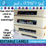 Classroom Supply Labels  - BLACK & Editable