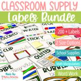Classroom Supply Labels BUNDLE