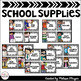 Classroom Supply Labels - Black & White Chevron