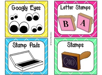 Classroom Supply Labels {Bright Colors Theme}