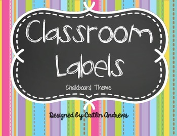 Back-to-School: Classroom Supply Labels-Chalkboard Theme