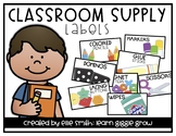 Classroom Supply Labels (Clean and Bright with Pictures)