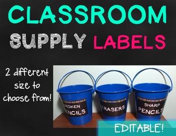 Classroom Supply Labels - {EDITABLE}