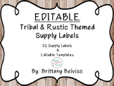 Classroom Supply Labels & EDITABLE TEMPLATES