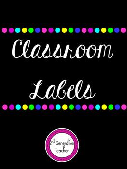 Classroom Supply Labels *Editable*
