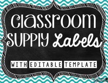Classroom Supply Labels [Editable]