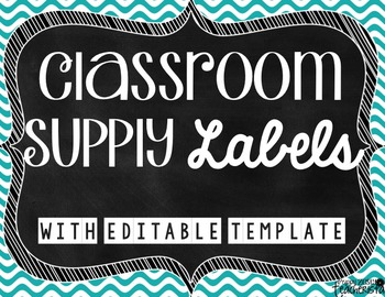 Classroom Supply Labels [Editable]