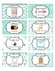 Classroom Supply Labels English and Spanish Mint Chevron,