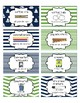 Classroom Supply Labels English and Spanish- Nautical Navy