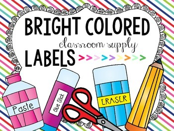 Classroom Supply Labels {FREE}