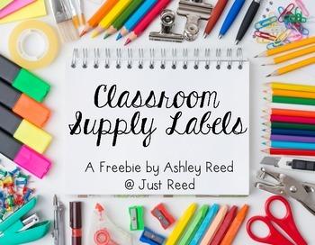 Classroom Supply Labels {FREEBIE}