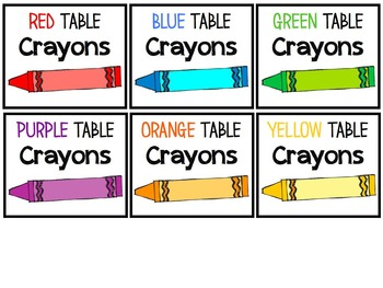 Classroom Supply Labels - FREEBIE