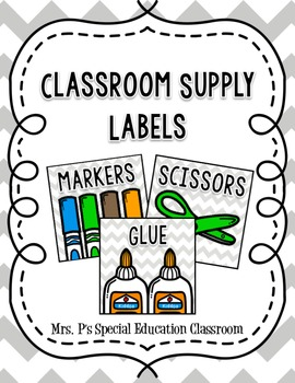 Classroom Supply Labels FREEBIE