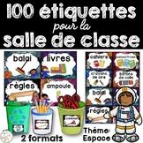 Classroom Supply Labels French - 100+ étiquettes pour la classe - Espace