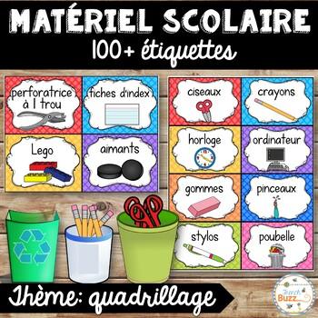 Classroom Supply Labels French - 100+ étiquettes pour la classe - Version 5
