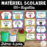 Classroom Supply Labels French - 100+ étiquettes pour la classe - Version 8