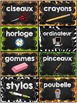 Classroom Supply Labels French - 100+ étiquettes pour la classe - Version 9