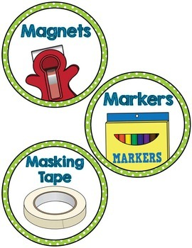 Classroom Supply Labels- Green