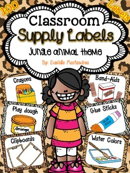 Classroom Supply Labels {Jungle Theme}