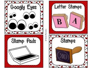 Classroom Supply Labels {Ladybug Theme}