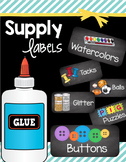 Classroom Supply Labels - Math Manipulative Tags - Chalkboard - EDITABLE