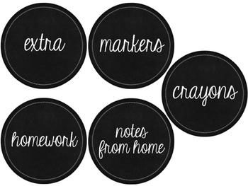 Classroom Supply Labels & More {Cursive Set}