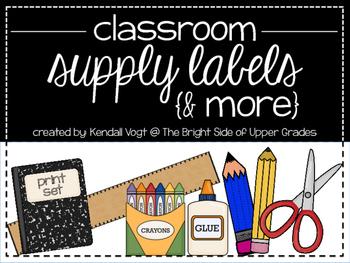 Classroom Supply Labels & More {Print Set}