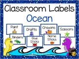 Classroom Supply Labels ~ Ocean