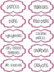 Classroom Supply Labels - Pink Stitches