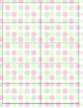 Classroom Supply Labels (Polka Dot Background)