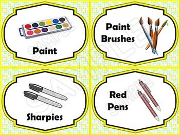EDITABLE Classroom Supply Labels EDITABLE School Supply Labels PASTEL POLKA DOT
