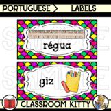 Classroom Supply Labels : Portuguese