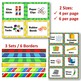 Classroom Supply Labels - Primary Colors - EDITABLE