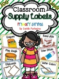 Classroom Supply Labels {Primary Stripes Theme}