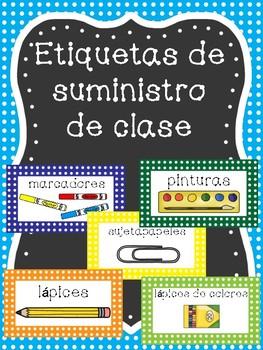 Classroom Supply Labels SPANISH VERSION