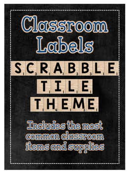Classroom Supply Labels: Scrabble Tile Themed