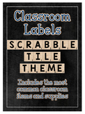 Editable Classroom Supply Labels: Scrabble Tile Themed