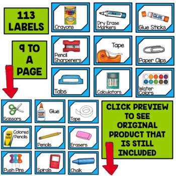 Editable Supply Labels