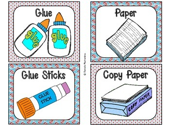 Classroom Supply Labels {Seuss Inspired Theme}