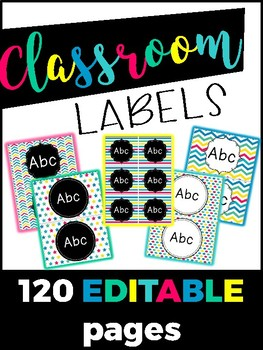 Classroom Supply Labels - Sterlite Labels