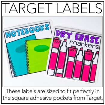 Classroom Supply Labels (Target Labels)