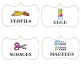 Classroom Supply Labels (White Background)