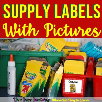 Classroom Supply Labels With Pictures | School Supply Labels
