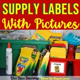 Classroom Supply Labels With Pictures   School Supply Labels