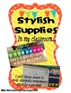 Classroom Supply Labels and Project Direction Cards