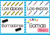 Classroom Supply Labels en español