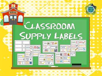 Classroom Supply Labels for Primary Teachers with Picture Clues (FREE)