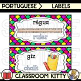 Classroom Supply Labels : Portuguese / English