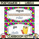 Classroom Supply Labels : Portuguese / English