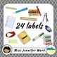 Classroom Supply Labels in Ukrainian